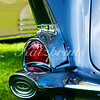 Tail light of a classic car at the Golden Oak Festival in Paso Robles