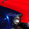 Blue-red car abstract captured at the Cruise for a Cause in Willow Glen