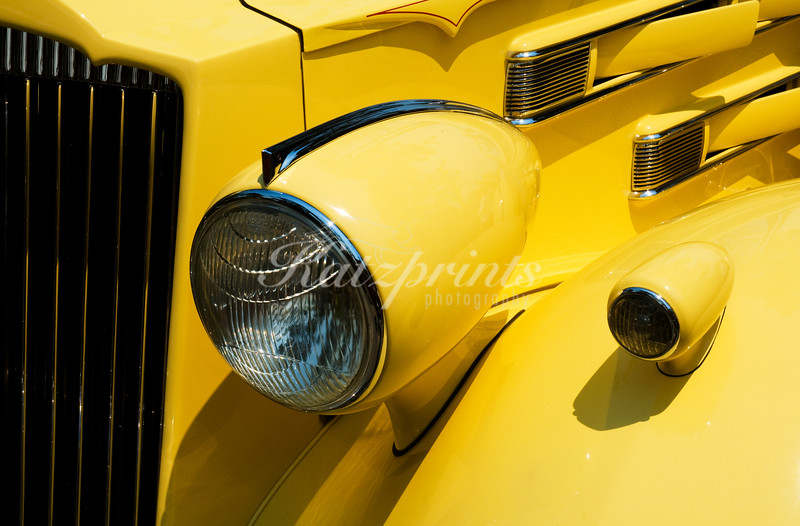 Front view of a classic car at the Pebble Beach Tour d'Elegance in Carmel