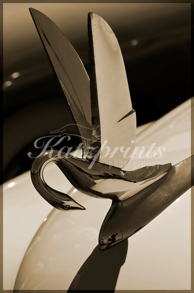 Hood ornament of a 1949 Packard