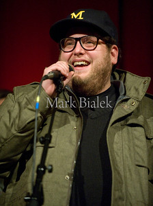 "Jan 28, 2010 - Ann Arbor, MI, USA - Actor Jonah Hill answers questions after the premier of the movie ""Cyrus"" at the Sundance Film Festival at the Michigan Theatre in Ann Arbor.  The Duplass brothers wrote the screenplay and directed, while actor Jonah Hill starred alongside Marisa Tomei and John C. Reilly.  (Credit Image: © Mark Bialek / ZUMA Press)"