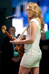 Two-time grammy award winner, Colbie Callait, performs at the Mercedes-Benz press conference during the North American International Auto Show in Detroit, Michigan on Jan 10, 2011.