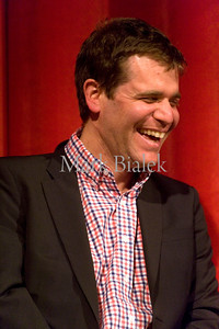 """Nicholas Stoller, director of """"The 5-Year Engagement,"""" starring Jason Segel and Emily Blunt, answers questions after a sneak peak showing of the movie at the Michigan Theater in Ann Arbor, MI on April 20, 2012."""