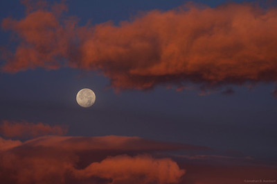 Moon and morning clouds