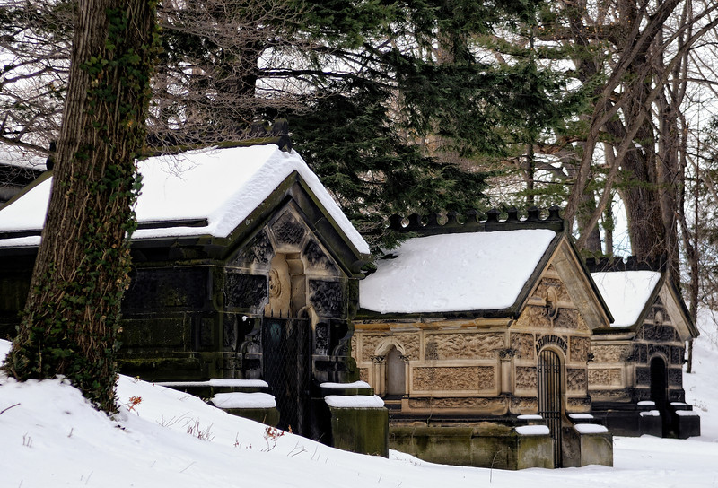 Lake View Cemetery in Winter
