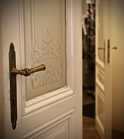 Freud's apartment doors, Vienna, Austria