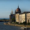 Houses of Parliment Dome and the Danube River, Budapest, Hungary