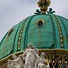 Dome of Hofburg Palace, St. Michael's gate, Vienna, Austria