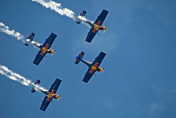 Red Bull races over the Danube River, Budapest, Hungary, August 20 celebration for St. Stephen's Day, 2008