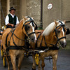 Horse drawn carriage ride in Salzburg, Austria