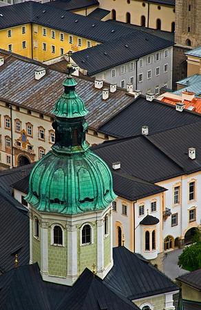 Steeple of Salzburg Cathedral, Salzburg, Austria