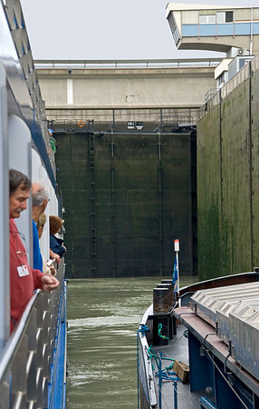 Just one of the many locks on the Danube River, through Austria to Budapest.