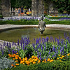 Fountain in the Mirabell Gardens of Salzburg, Austria.<br /> Beautiful gardens and estate, best known for the filming of the movie, 'Sound of Music.'
