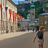 Walk leading to the funicular to the Hohensalzburg Fortress.