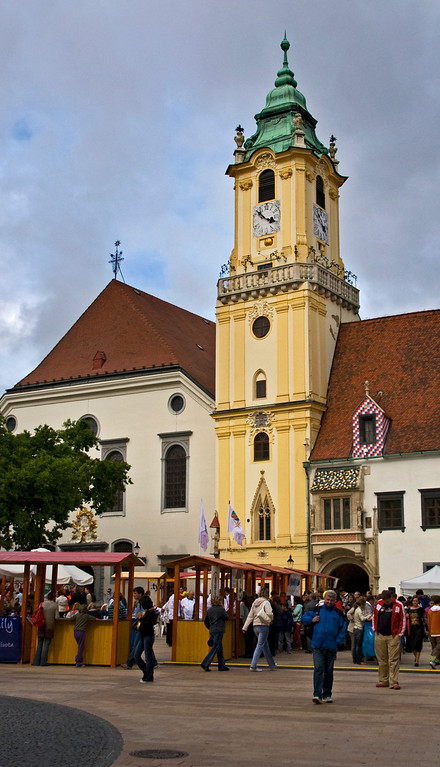 One of the oldest stone buildings in Bratislava, and the oldest city hall in Slovakia.