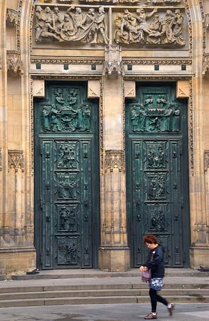 Doors of St. Vitus in Prague, Czech Republic
