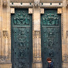 Doors of St. Vitus in Prague, Czech Republic