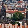 Charles Bridge in the distance<br /> Prague, Czech Republic