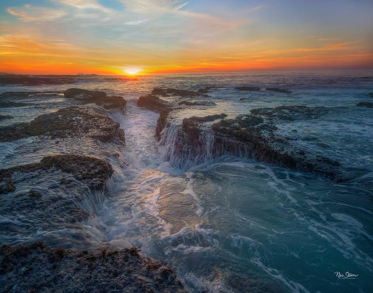 Sunset at Hazard Beach
