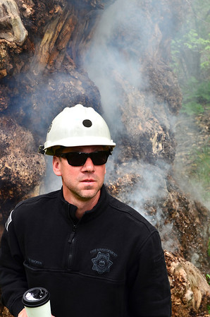Jay Stalnacker assessing the situation at the champion cottonwood