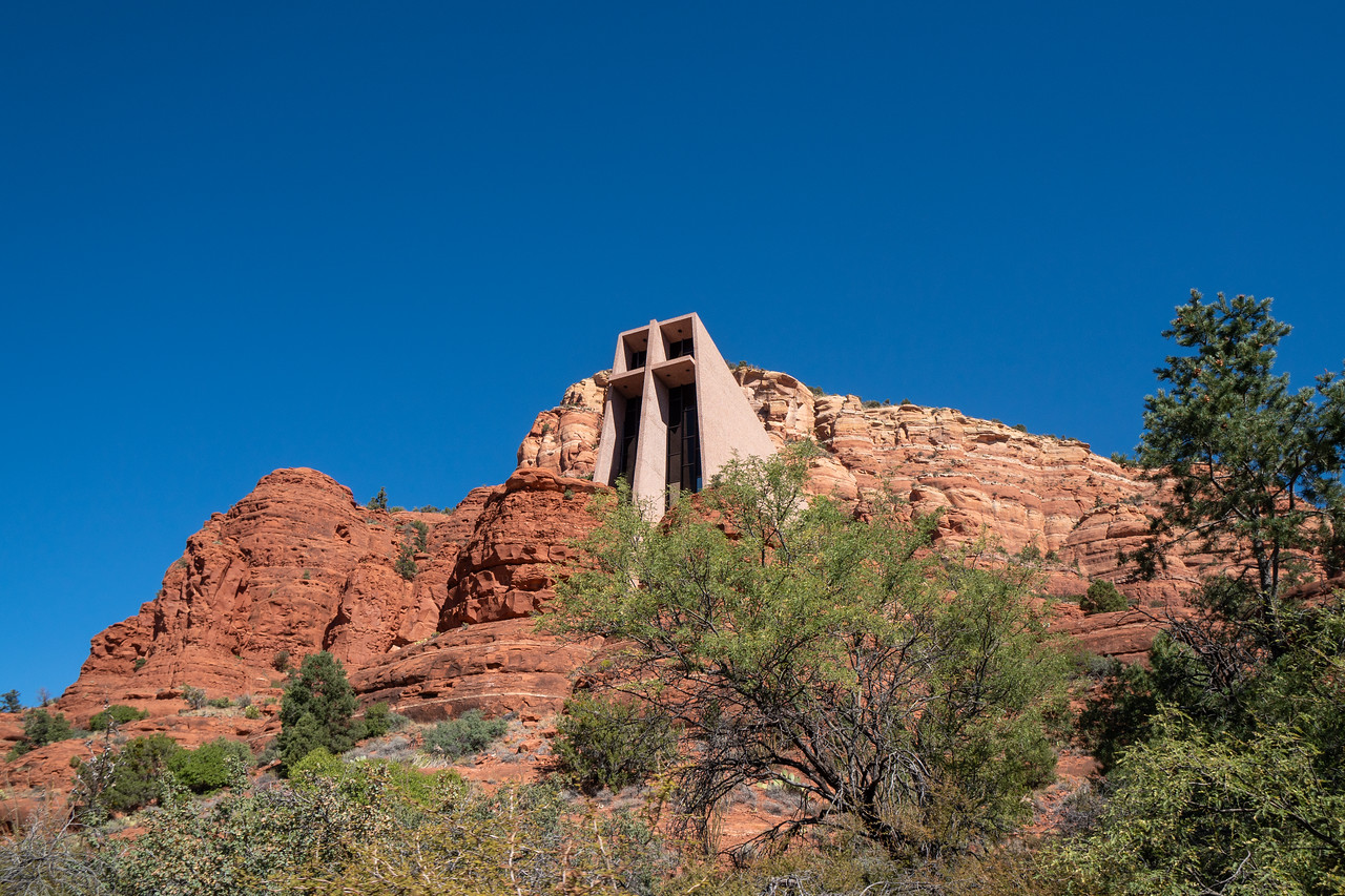 The Chapel of the Cross high on a sandstone butte