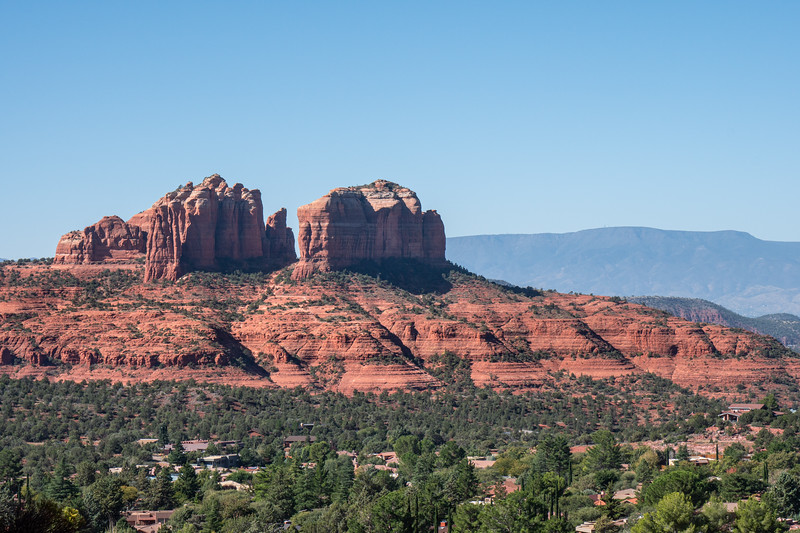 Capitol Butte as seen from the Chapel of the Holy Cross in Sedona, AZ.