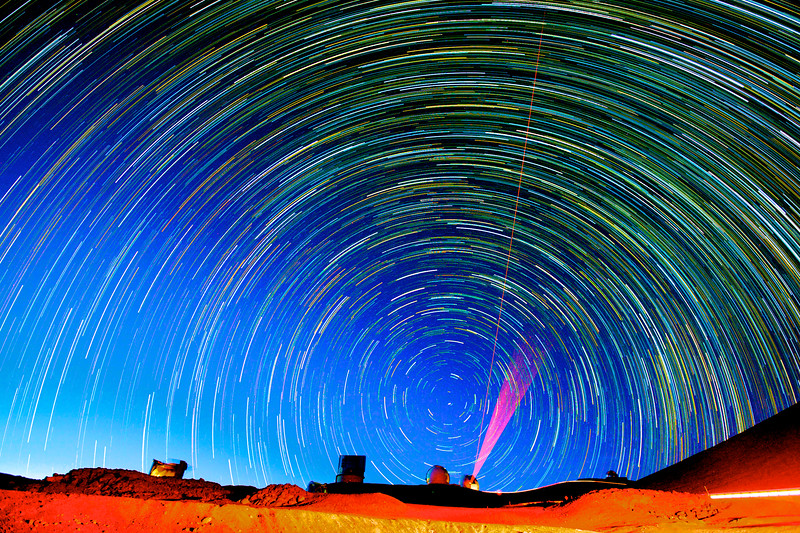 Star Trails atop Mauna Kea