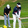Team Korea - Anthony Kim and Y.E. Yang on the driving range
