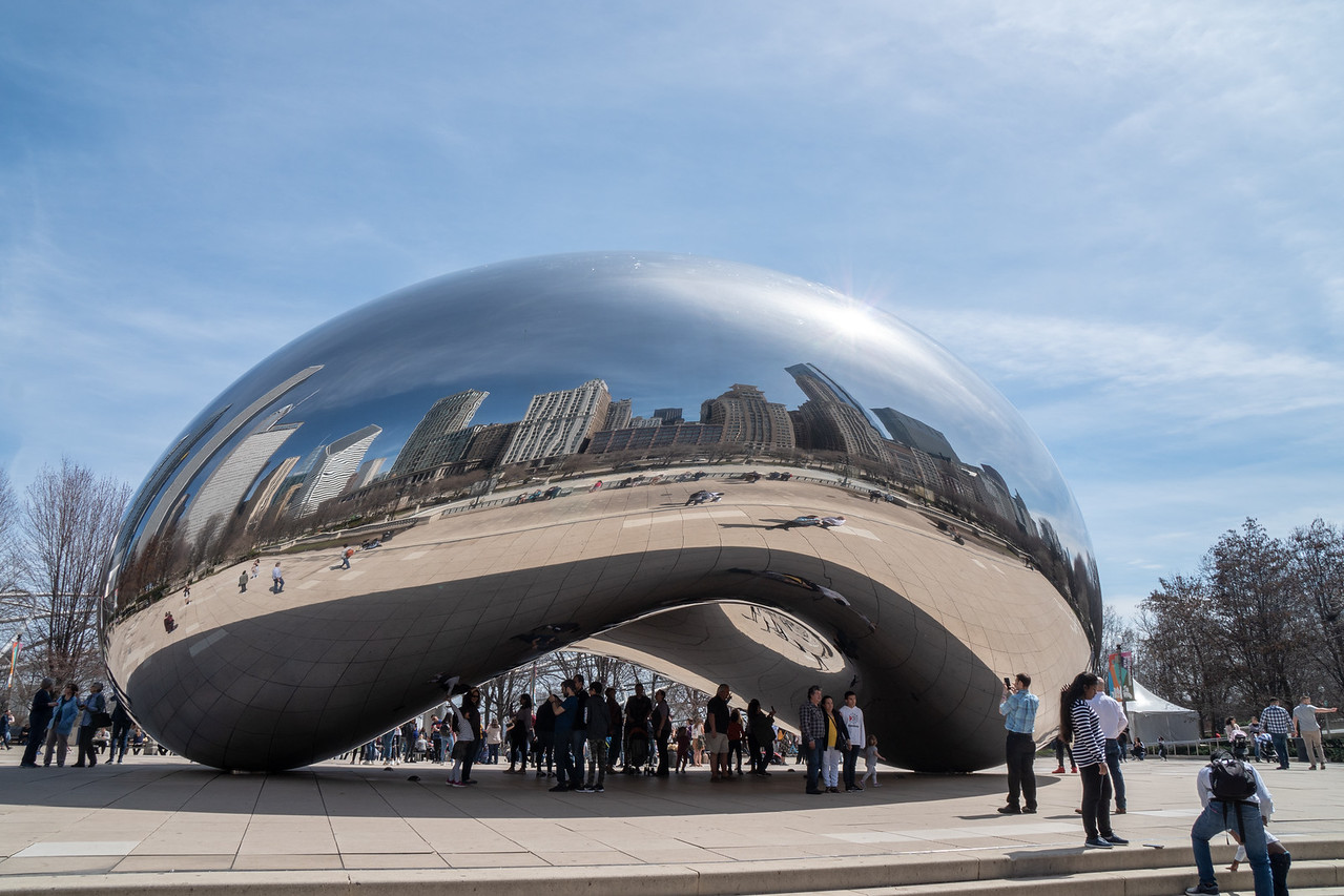 The stainless steel sculpture, Cloud Gate, by Anish Kapoor is a must on any Chicago sightseeing agenda....