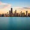 Sunset over Chicago (Chicago, Illinois)