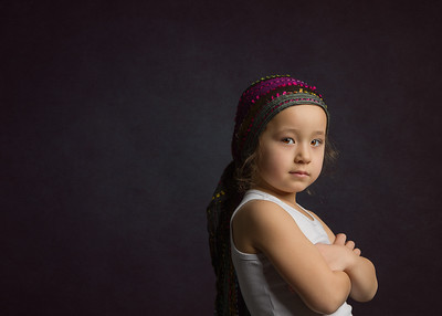 Kids studio portraits in Niagara