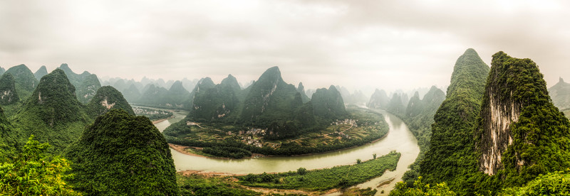 Sunrise from atop Xiang Gong (Guangxi, China 2016)