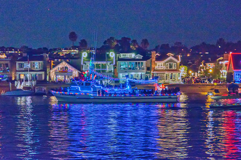 The Christmas Boat Parade at Newport Beach, CA