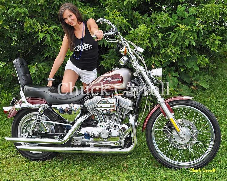 Bud Lite Girls Portraits ,  Motorcycles