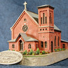 Saint Ann Roman Catholic Church - fundraising Sculpt, 2009<br /> This Hampton, NJ landmark was re-created in miniature to help raise funds for the Church's 150th anniversary. Much attention was given to the many architectural details. Raised brick patterns, scalloped shingles and complex window patterns are painstakingly reproduced in fine detail. These were limited to 100 cast and painted replicas.