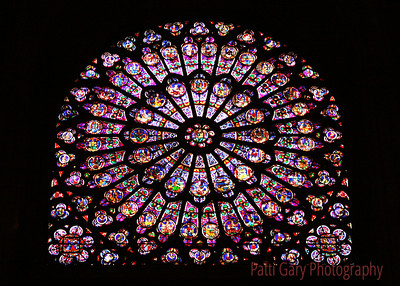 Notre Dame Stained glass Paris, France