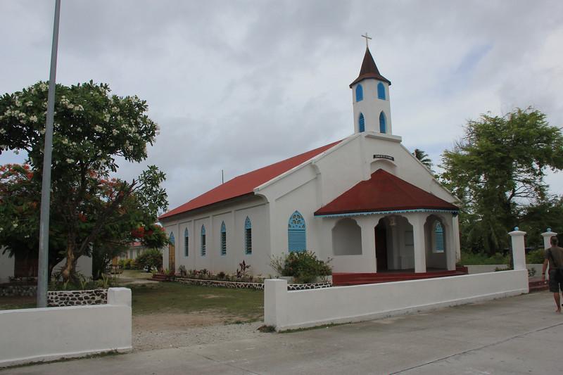 Ioane No Te Tatauro, Coral Church, FAKARAVA ATOLL in TUAMOTUS ARCHIPELAGO. FRENCH POLYNESIA