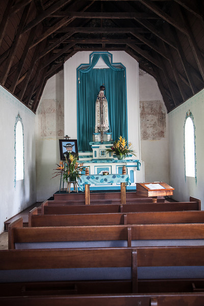 """Blue Grotto""  Original church on the same property as St. Gabriel's Mission"
