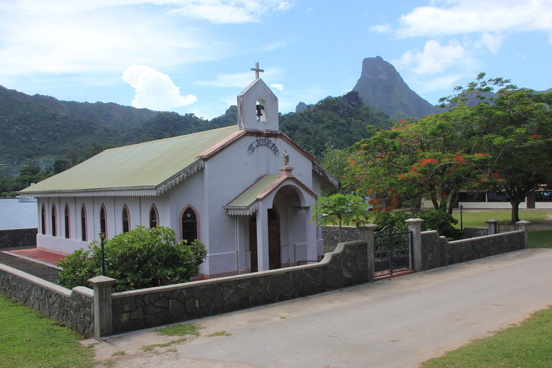 St. Joseph Church, Island of Moorea, Tahiti