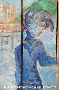 Painted Door Mermaid: Vernazza, Cinque Terre, Italy