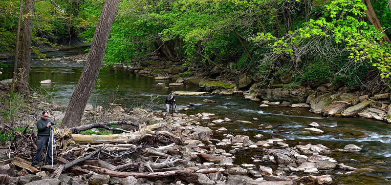 Photographers on the Chagrin River