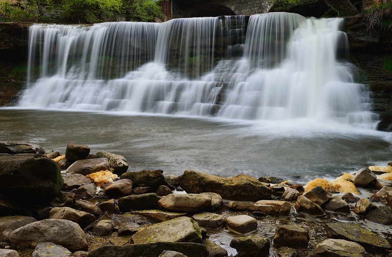 View of the Waterfall in Chagrin Falls
