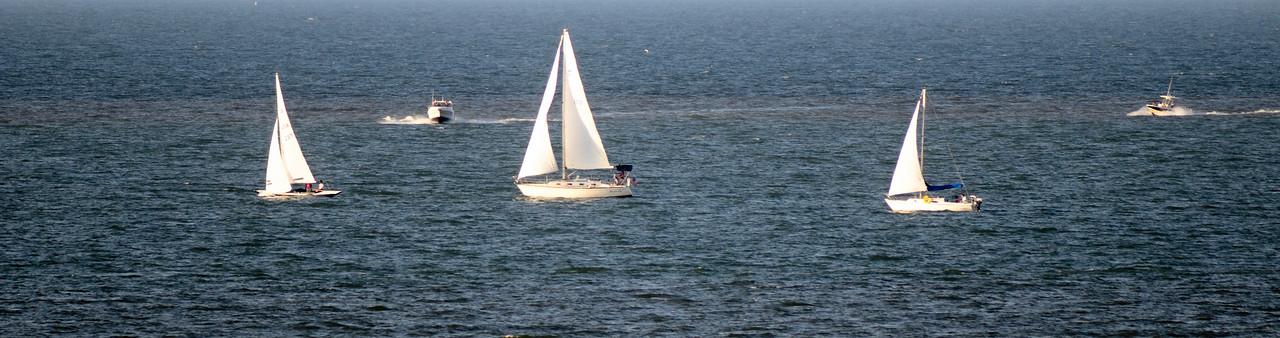 Sailboats on Lake Erie - Cleveland, Ohio