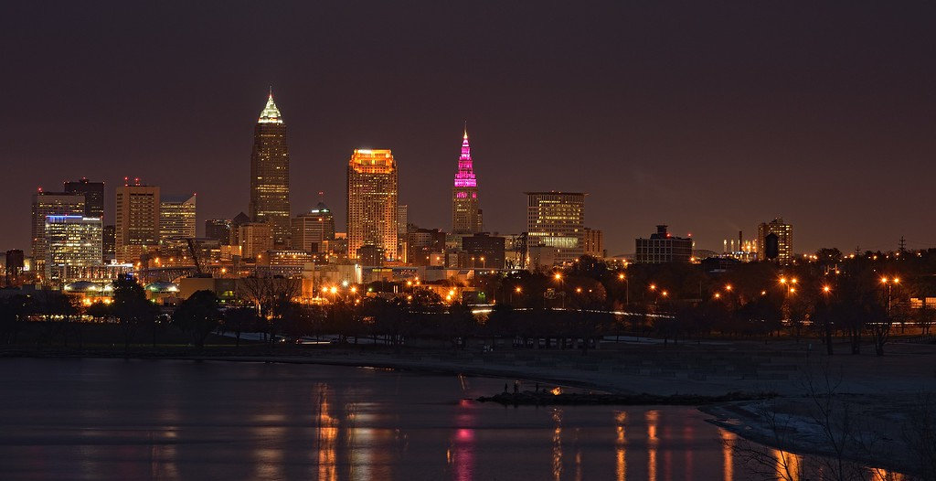 Cleveland Skyline from Edgewater Park