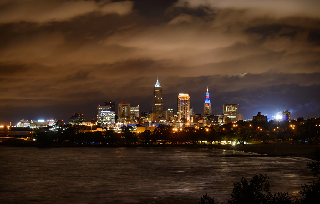 A Cloudy Cleveland Night from Edgewater Park
