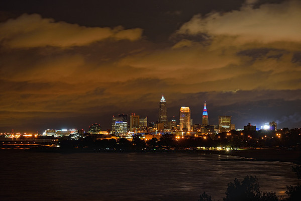 View of Cleveland, Ohio from Edgewater Park