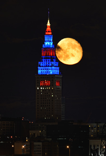 Terminal Tower and the Full Moon