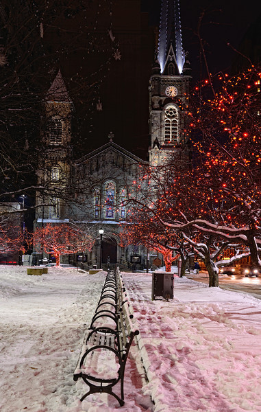 Old Stone Church and Cleveland Christmas Lights