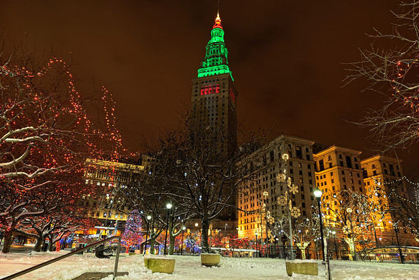 Terminal Tower and Cleveland Christmas Lights