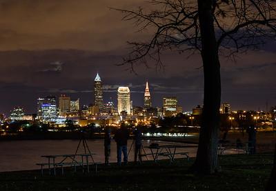 November Full Moon Over Cleveland, Ohio